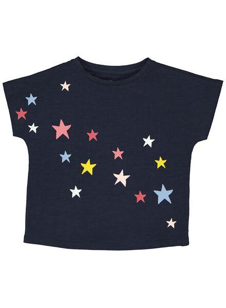 kinder t-shirt donkerblauw donkerblauw - 1000013546 - HEMA