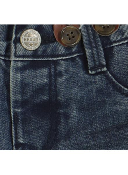 babybroek denim met bretels blauw blauw - 1000014357 - HEMA