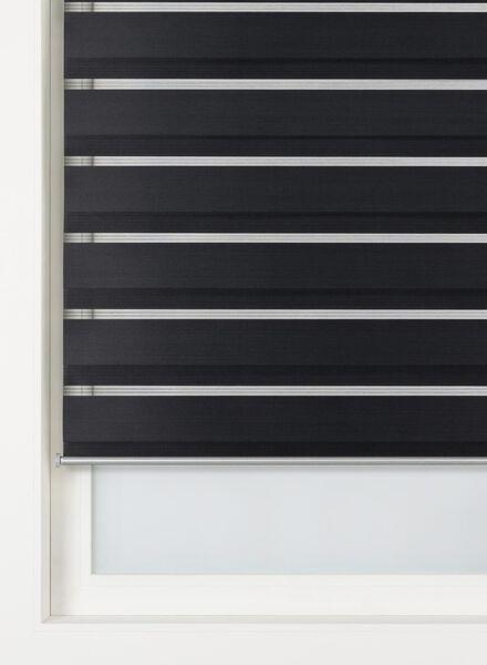 duo rolgordijn uni basic zwart - 7410235 - HEMA