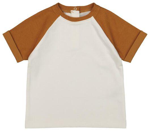 baby t-shirt bruin 68 - 33127712 - HEMA