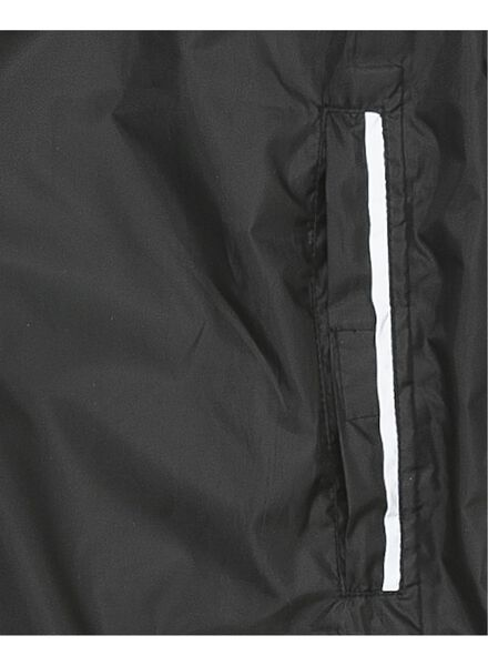 regenjas voor volwassen opvouwbaar zwart zwart XL - 34480034 - HEMA