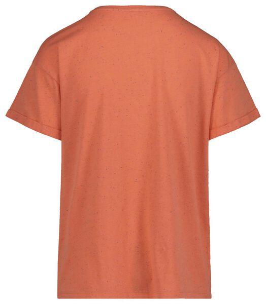 dames t-shirt koraal koraal - 1000019426 - HEMA