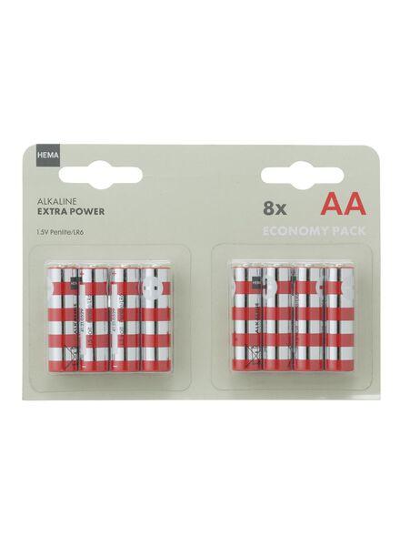 8-pak AA batterijen - 41210519 - HEMA