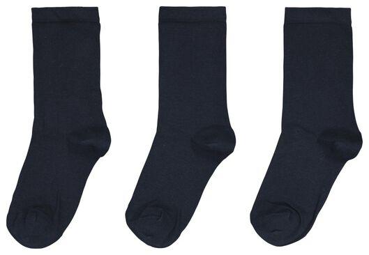 damessokken - 3 paar donkerblauw 35/38 - 4260271 - HEMA