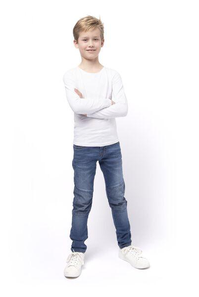 kinder jeans regular fit middenblauw middenblauw - 1000017876 - HEMA