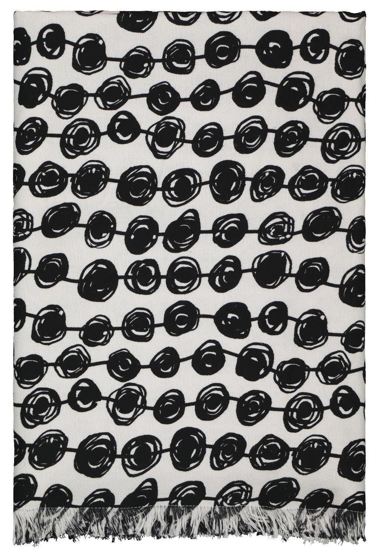 HEMA Hamamdoek 160x180 Stip Zwart wit