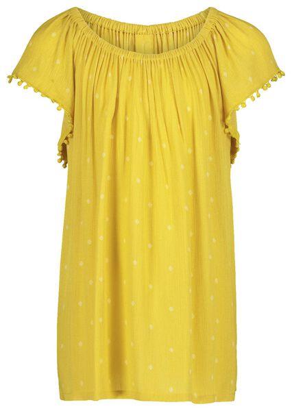 kinder t-shirt geel geel - 1000019586 - HEMA