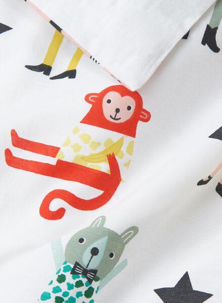 kinderdekbedovertrek - zacht katoen - 140 x 200 cm - wit dieren - 5750123 - HEMA