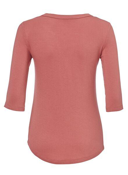 dames t-shirt donkerroze donkerroze - 1000012823 - HEMA
