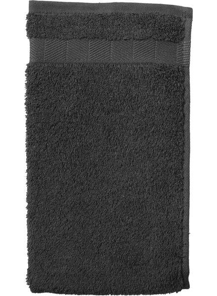 gastendoek - 30 x 55 cm - zware kwaliteit - donkergrijs - 5202602 - HEMA