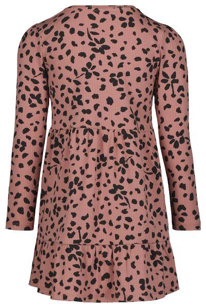 kinderjurk rib roze 134/140 - 30801566 - HEMA
