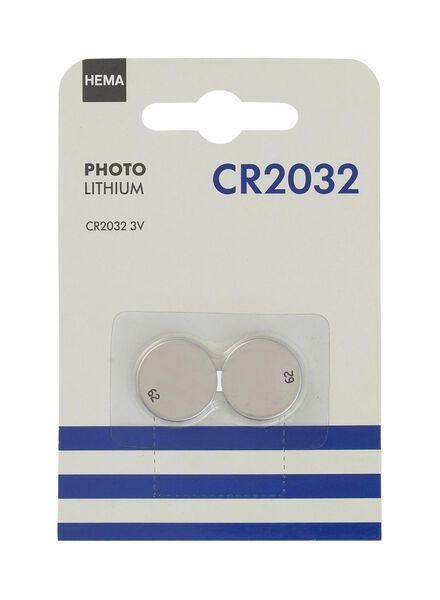 2-pak CR2032 batterijen - 41210515 - HEMA