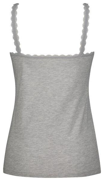 dameshemd kant grijsmelange grijsmelange - 1000024121 - HEMA