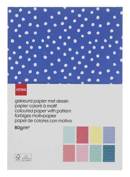 gekleurd papier met dessin - 15970201 - HEMA