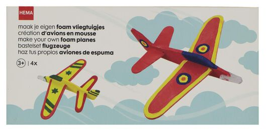 foam vliegtuigjes maken - 4 stuks - 15920107 - HEMA
