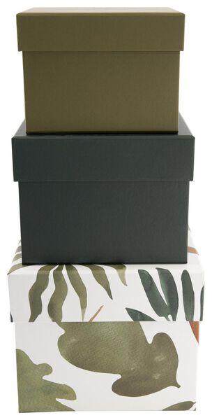 opbergdoos karton bladeren - 3 stuks - 39812010 - HEMA