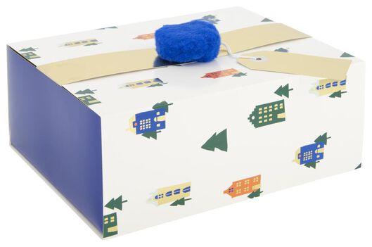 Cadeaudoos 23x18x9 - huisjes - in Cadeauverpakkingen & cadeaupapier