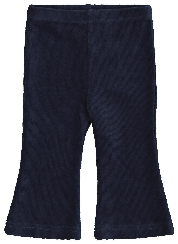 HEMA Babybroek Rib Flared Blauw (blauw)