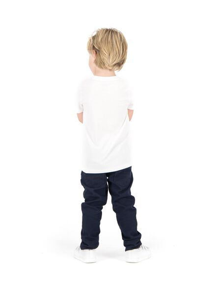 2-pak kinder t-shirt - biologisch katoen wit wit - 1000003422 - HEMA