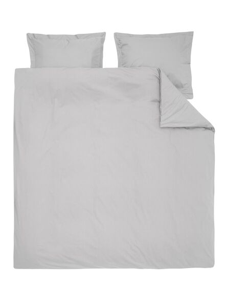 dekbedovertrek - hotel katoen percal - 200 x 200 cm - lichtgrijs - 5720123 - HEMA