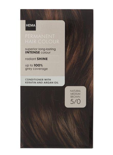 haarkleuring medium bruin 5/0 - 11050002 - HEMA