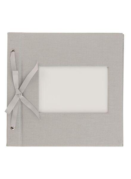 Fotoalbum met venster 22x22.4 zilver