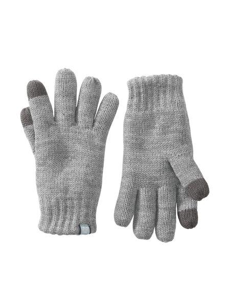 kinderhandschoenen grijsmelange grijsmelange - 1000009625 - HEMA