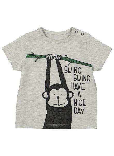 baby t-shirt grijsmelange grijsmelange - 1000013909 - HEMA