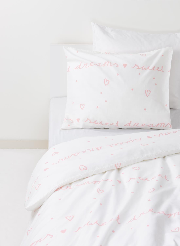 HEMA Kinderdekbedovertrek – Zacht Katoen – 140 X 200 Cm – Sweet Dreams (rose)