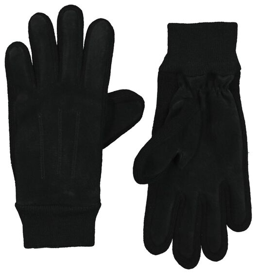 dameshandschoenen suède/gebreid zwart - 1000020807 - HEMA