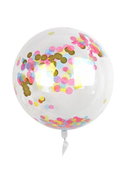 folieballon met confetti 50 cm - 60800659 - HEMA