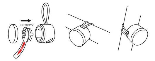 2-pak LED fietslampjes - 41198088 - HEMA