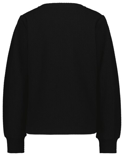 dames top structuur zwart XL - 36224169 - HEMA