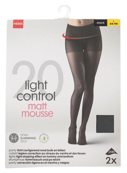 2-pak panty's licht corrigerend 20 denier zwart zwart - 1000000924 - HEMA