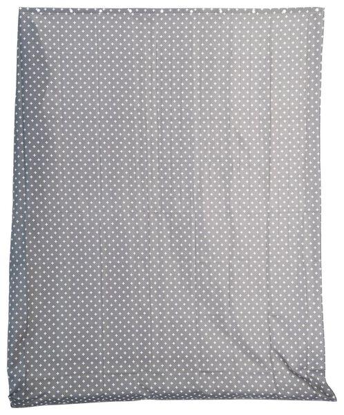 Douchegordijn - 180x200cm - textiel - grijs/wit