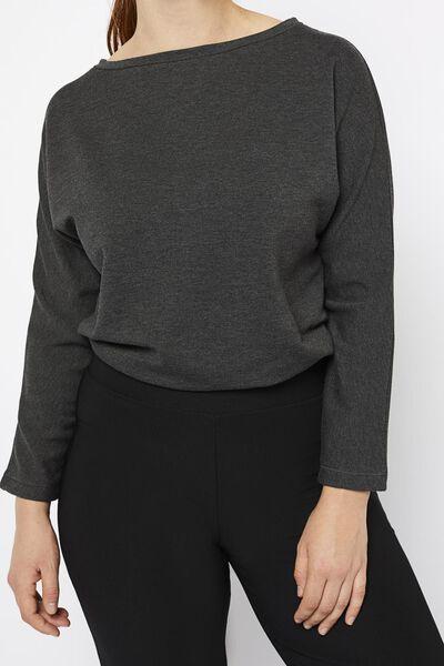 dames sweat t-shirt donkergrijs donkergrijs - 1000021515 - HEMA