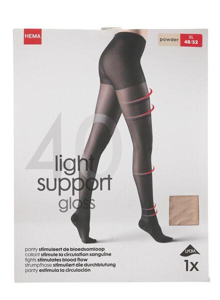 licht ondersteunende panty 40 denier poeder poeder - 1000000950 - HEMA
