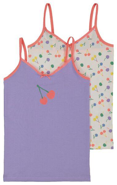 2-pak kinderhemden paars paars - 1000018078 - HEMA