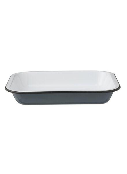 emaille ovenschaal - 23 x 29 - blauw - 60080136 - HEMA