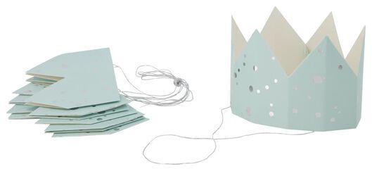 kroontjes papier 6 stuks lichtblauw - 14200537 - HEMA