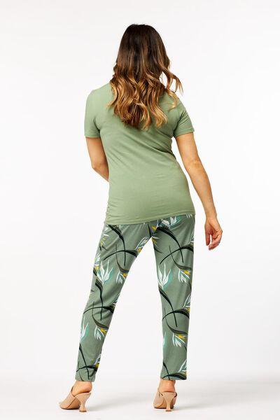 dames basic t-shirt lichtgroen XL - 36334079 - HEMA