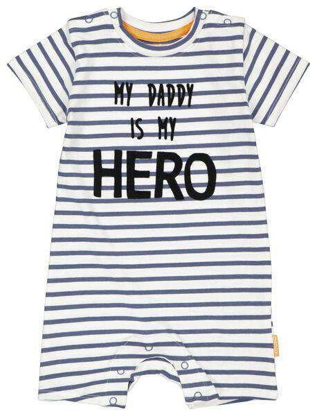 newborn jumpsuit daddy gebroken wit - 1000024200 - HEMA