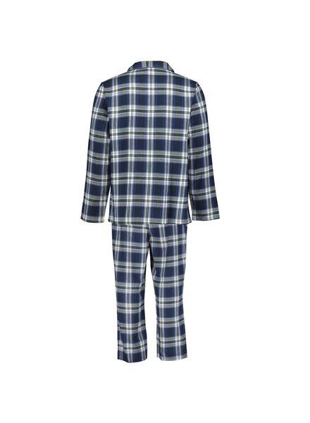 herenpyjama flanel donkerblauw donkerblauw - 1000013965 - HEMA