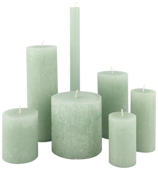 rustieke kaarsen lichtgroen lichtgroen - 1000020028 - HEMA