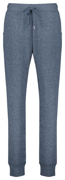 dames pyjamabroek sweat blauw M - 23400772 - HEMA