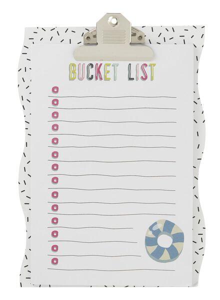 clipboard bucket list - 60700487 - HEMA