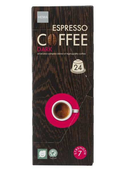 24-pak capsules espresso dark - 17110035 - HEMA