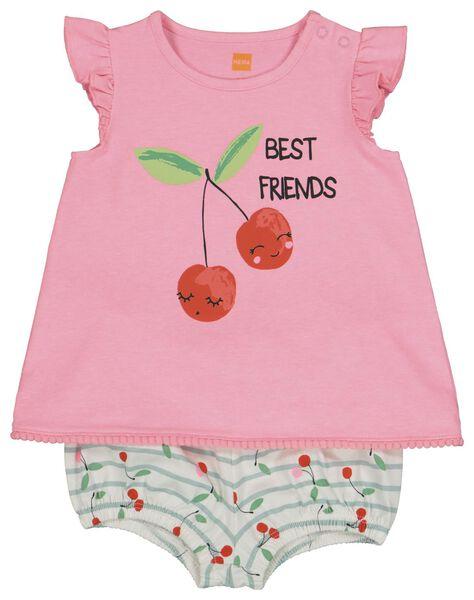baby t-shirt en short roze 86 - 33083135 - HEMA