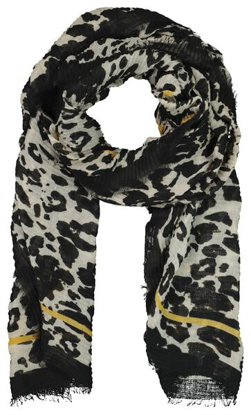 damessjaal 200x80 plissé camouflage - 1790017 - HEMA