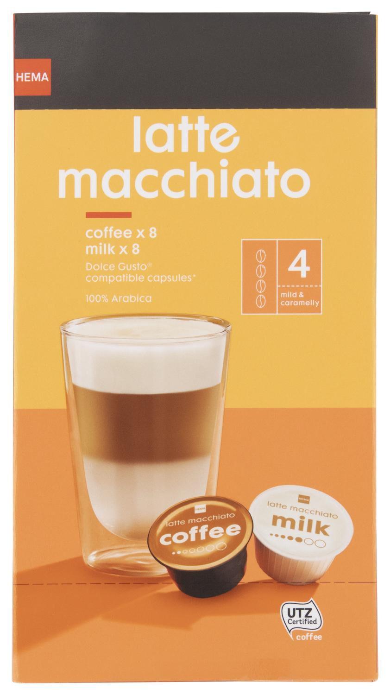 koffiecups latte macchiato 8 stuks